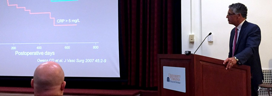 Photo of Michael S Conte Lecturing at UVA Surgery Grand Rounds