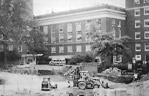 historical photo of uva hospital west complex
