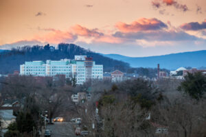 View of the UVA Medical Center from Belmont