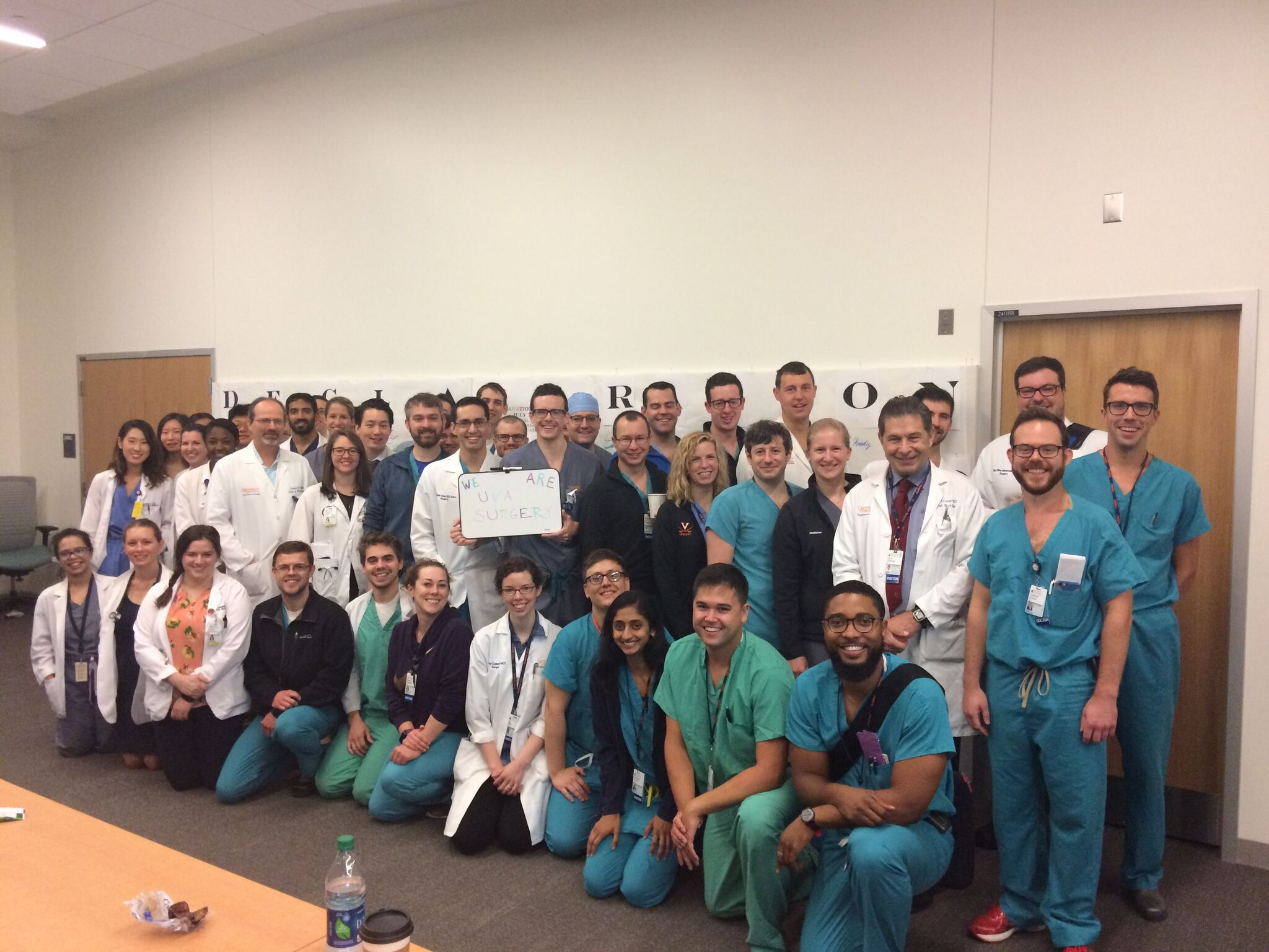 Photo: UVA School of Medicine, Surgical Residency group photo