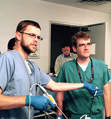 residents in surgical simulation