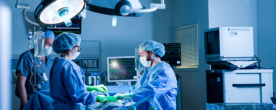 photo of uva surgeons working in the o.r.